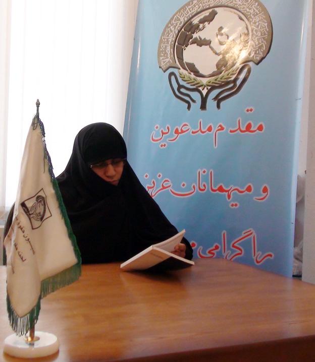 خانم عشرت شایق در بازدید از دفتر منطقه 7 کمیسیون حقوق بشر اسلامی