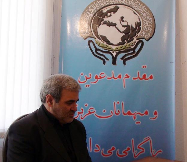 سردار احد زبردست در بازدید از دفتر منطقه 7 کمیسیون حقوق بشر اسلامی
